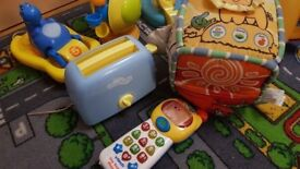 Bundle of toys,bath toys,electric toys,phone, kitchen staffs,Peppa Pig musical songs, NEED GO ASAP