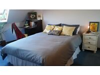 En suite with a view, room in a lovely attic, lift & parking underneath in 2 bedroom shared flat