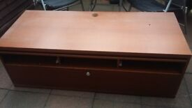Living Room Multi Media Bench with Pull Down Door & Large Compartment Draw By IKEA