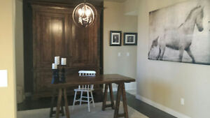 Solid Reclaimed Wood Desk $1295, Office Suite $4295. By LIKEN Woodworks
