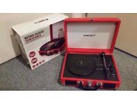Intempo EE1551 Retro Portable Bluetooth Turntable Record Player, Red- Collection Only.