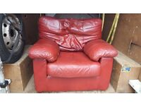 FREE FREE red leather chair