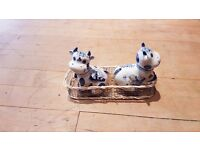Cow, China salt & pepper shakers