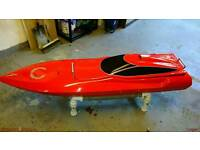 Selling a very large r c boat 60 inch long ×16 inch beam. Not a toy ! Boat radio controlled model