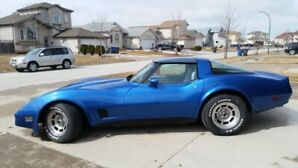 Corvette C3 , Beautiful Blue Numbers Matching