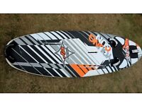 JP Young Gun 115l kids windsurf board, foot straps and fin