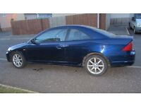 Honda Civic Coupe - One year MOT With in-car entertainment