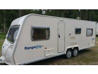 2008 Bailey ranger 620/6 6 berth twin Axel touring caravan with extras