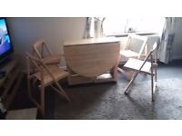 Kitchen/Utility Extending Table and 4 Chairs