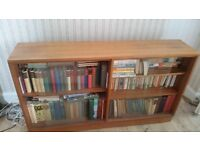 Great bookcase with glass sliding doors. Well used but in good condition. Bargain buy!