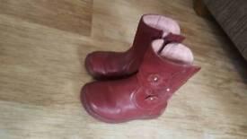 Girls start-rite boots infant 4f