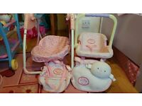 Baby AnnaBell singing swing, carseat, changing bags, carrier