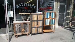 MEUBLES D'INSPIRATION INDUSTRIELLE DISPONIBLES, 20% D'ESCOMPTE