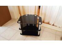Serano Black tempered glass TV stand, for LED/LCD/PLASMA TV