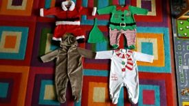 Baby Christmas bundle size 3-6 months 4x onesies