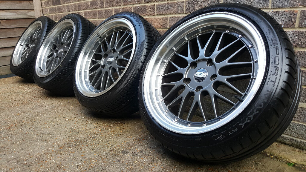 18 Quot Bbs Lm Style Alloy Wheels With Tyres Bmw 5x120 Removed From An E46 3 Series M3 E36 E90