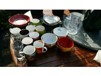 FREE plates, bowls, mugs, glasses (joblot)