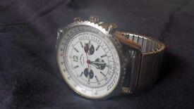 Gents Louis Valentin Swiss Design White & Silver Watch