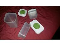 3 x Great storage vessels with lockable lids - Chatham