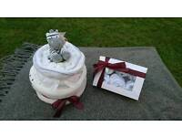 Nappy Cake and Clothing Cupcake Box - Perfect Maternity or Baby Shower Gift