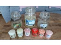 Assorted Yankee Candles - jars and votives