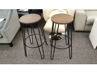 Julian Bowen Dalston Round Bar Stool Bargain £60 Each Can Deliver