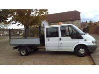 54 plate ford transit crew cab tipper