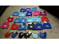 Job lot of kid's hats and gloves