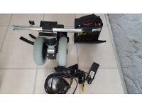 Wheel chair motor wheels and batry pack
