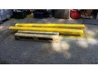 Long set of used forklift extension blades 7 ft long