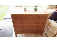 Chest of Drawers 1950's RAF Officers Dresser supplied with original mirror