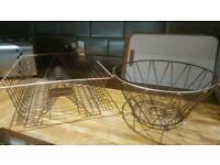Copper style fruit bowl and dish drainer rack