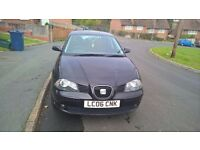 2006 Seat Ibiza 1.4 petrol 5 doors in excellent condition black only 70000 miles