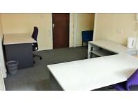 Cheap rent for fully furnished office - 210 sq ft - in BD8. Includes ALL bills.