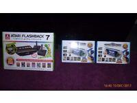 Atari Flashback Classic Gaming Console + 2 X Sega Mega Drive Portable Game Players
