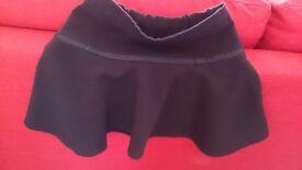 Girls black skirt, age 4-5