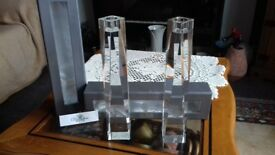 crystal candlesticks (pair)