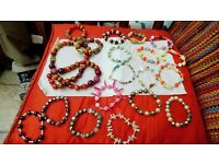 elastic bead bracelets assorted