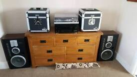 Technics Turntable, Amplifier, Speakers, Phono Preamp