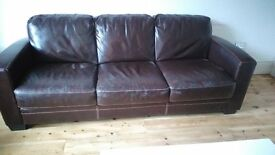 2 and 3 seater high qaulity vintage style leather sofas