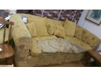 Large gold sofa