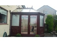 Conservatory 11ft x 8ft (Brown) Blinds Included