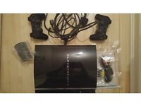 Sony Playstation 3 (PS3) glossy black 40GB console with games (USED) (Ps31)