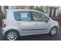 Renault Modus Dynamique 16v. 1.4 Petrol 5door hatchback, silver, Panoramic roof. 12 mth M.O.T.