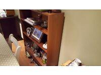 Vintage Retro Style Bookcase Book Case Shelving Unit 3 - 4 Shelves