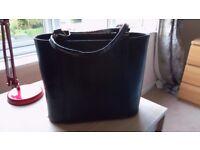 Dark Green Womens Leather Handbag