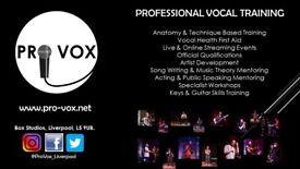 Pro Vox Vocal Training & Music Mentoring
