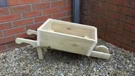 WHEELBARROW PLANTERS, MANY COLOURS,LARGE,TREATED WOODEN FLOWER PLANTER,DISPLAY BOX,QUALITY.