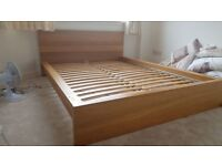 Beech matching double bed and chest of drawers mattress not included.