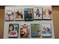 Rom-com and comedy DVDS